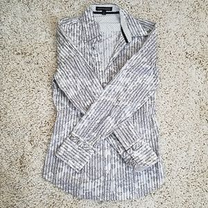 Express Design Studio Button Down Dress Shirt